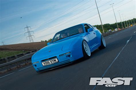 porsche 944 blue jap style modified porsche 944 fast car