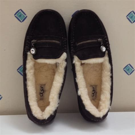 ugg ansley charm slippers 25 ugg shoes ugg ansley charm brown suede