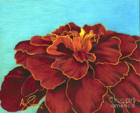 marigold paint red marigold painting by troy argenbright