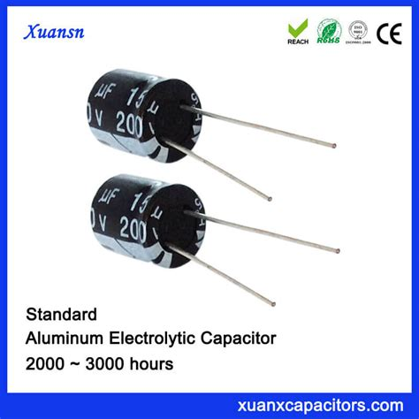 capacitor hours standard 15uf200v electrolytic capacitor for air conditioning