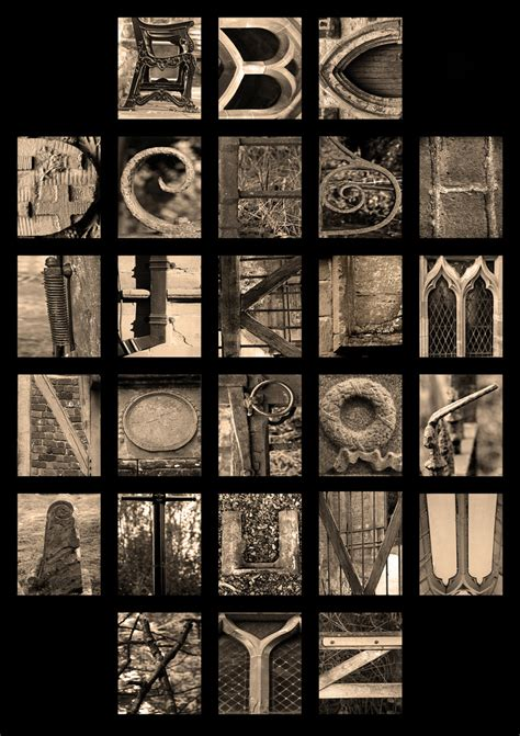 printable letters made out of objects unіquе letters made out of objects stock images