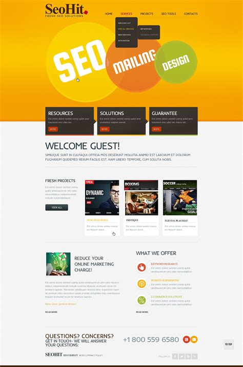 seo template seo website website template 38805