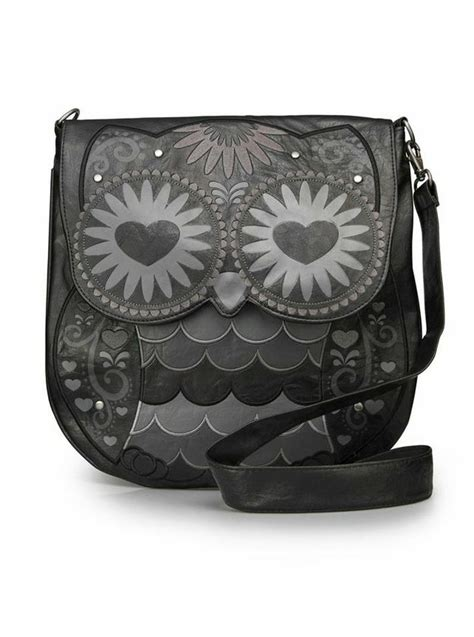 Wallet Owl Black Dompet Panjang quot black owl w quot crossbody bag by loungefly black purses wallets clutches etc