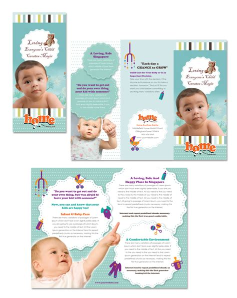 child care brochure templates baby toddler child day care tri fold brochure template