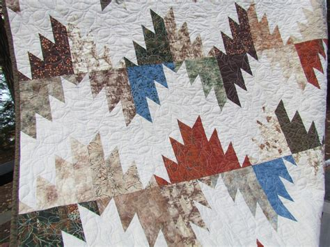 Mountain Top Quilting by Kayakquilting Finished Delectable Mountain Quilt