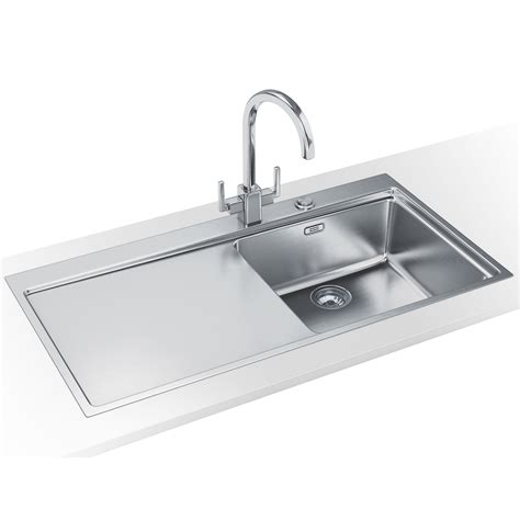 Franke Stainless Sinks by Franke Mythos Slim Top Dp Mmx 211 Stainless Steel Sink And