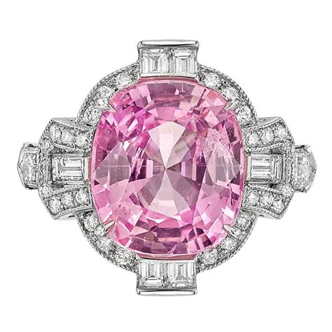 raymond c yard 6 22 carat pink sapphire platinum