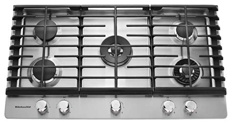 Best Buy Cooktops kitchenaid 36 quot built in gas cooktop silver kcgs956ess