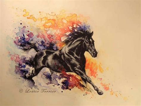 watercolor horse tattoo watercolor via tattoos