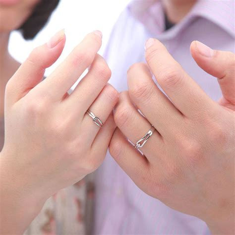 Ringe Paar by Interlocking Promise Rings Set For And
