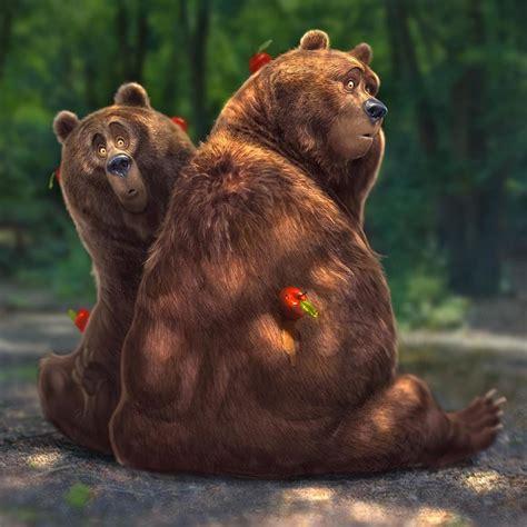 Large Artwork by Artstation Bear Characters Aaron Blaise