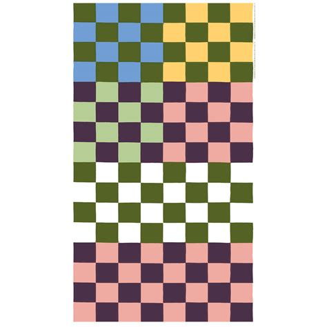 Ja Shop by Marimekko Kukko Ja Kana Multicolor Pastel Fabric Repeat