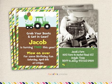 john deere printable birthday invitations john deere party green tractor birthday by rachellesprintables