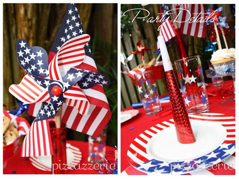 4th of july table july 4th party table pizzazzerie