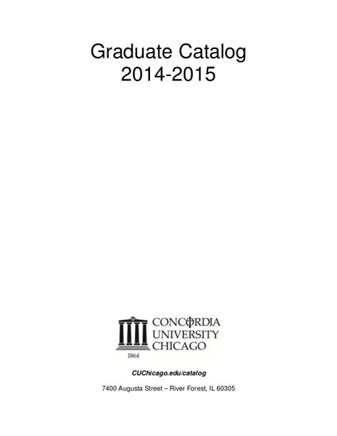 Https Www Usfca Edu Catalog Graduate School Of Management Mba Concentrations by Concordia Chicago Graduate Catalog 2014 2015