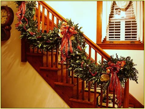 garland for stairs christmas nine ideas how to welcome the spirit interior design paradise