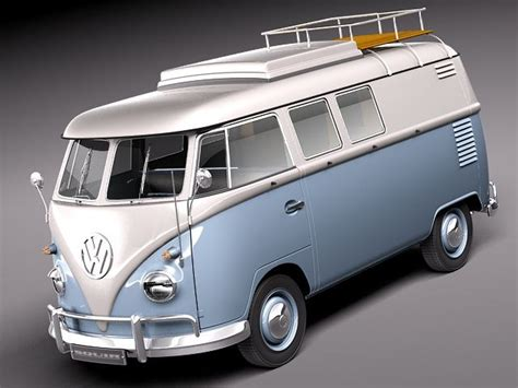 volkswagen classic models 3d model of bus van antique volkswagen