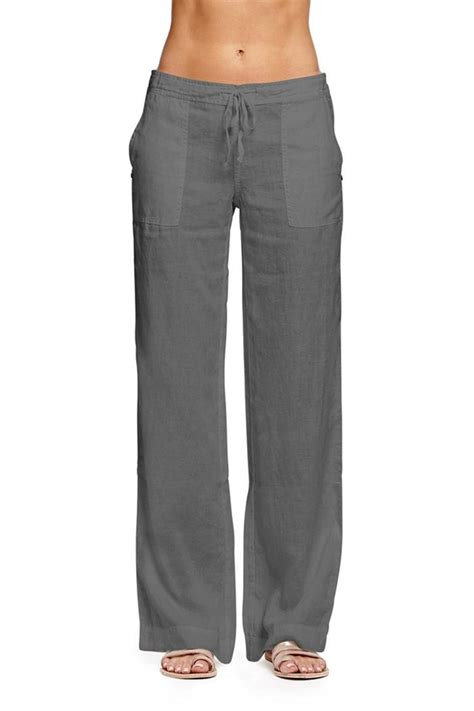 Drawstring Linen michael linen drawstring pant from district of