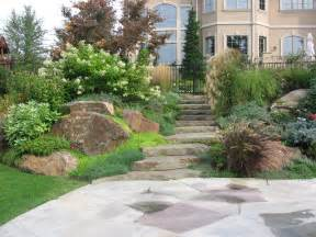 patio landscaping ideas backyard hill landscaping on