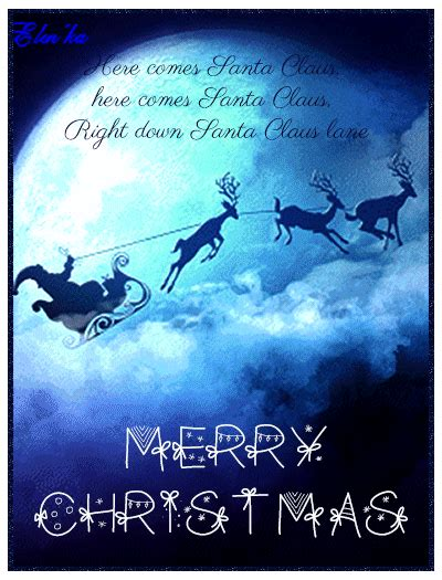 great santa claus animated christmas wishes gif images