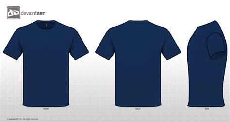 template desain t shirt photoshop template kaos warna biru template kaos