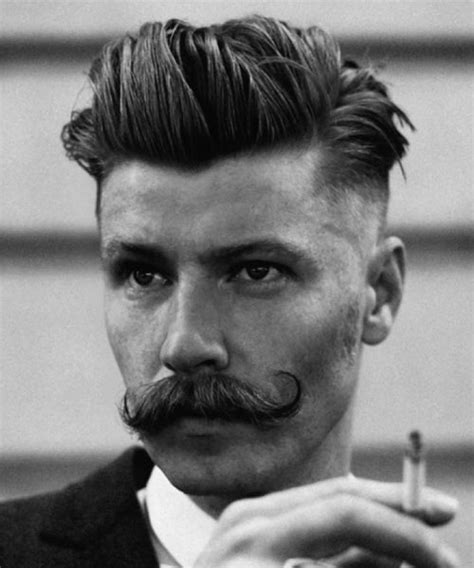 hairstyles that go with a moustache how to wear a handlebar mustache