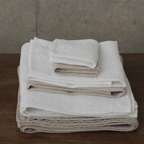 bathroom linens linen waffle towels white shop fog linen