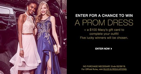 Prom Sweepstakes - macy s free prom dress sweepstakes 2018