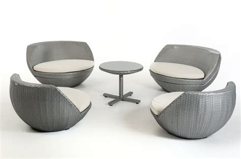 egg patio furniture ovum modern silver 5 egg shaped patio set