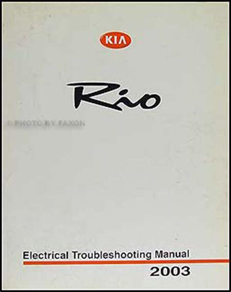 Kia Electrical Problems 2003 Kia Electrical Troubleshooting Manual Original