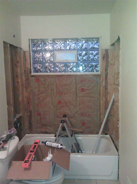 installing bathroom window window in shower what would you do