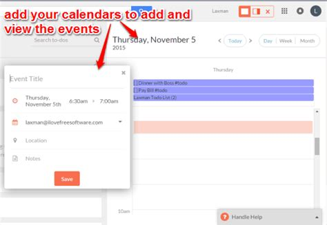 manage to do list calendar add emails as to dos chrome
