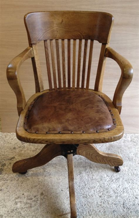 swivel captains chairs vintage oak swivel desk captains chair