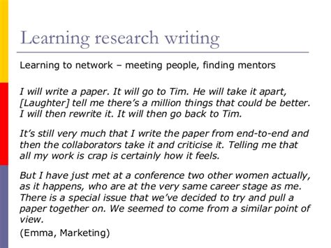 learning to write as an academic