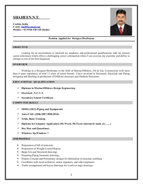 resume sle slideshare resume for autocad sales draftsman lewesmr