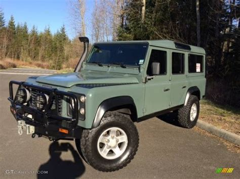 land rover military defender 1985 military green land rover defender 110 hardtop