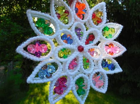 Kitch Plastic Bead Suncatcher Ornament