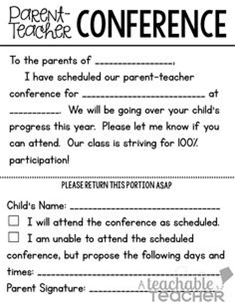 Parent Conference Invitation Letter Parent Conferences Conferences And Elementary On