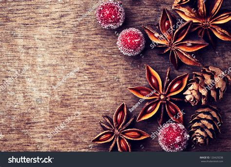 Dog Ornaments For Christmas Tree - rustic christmas background star anise stock photo 120429238 shutterstock