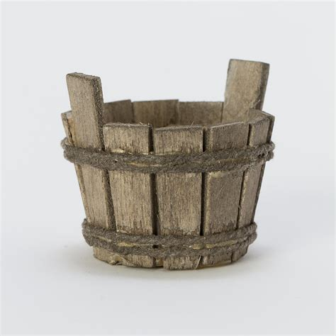 Starting Indoor Vegetable Garden - wooden bucket terrarium topper terrain