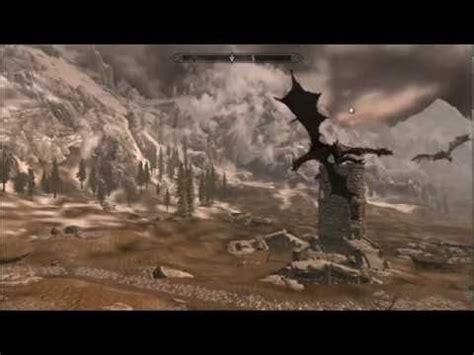 skyrim npc battles #1 alduin vs. paarthurnax vs