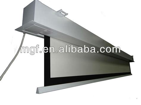 ceiling hanging recessed projector screen with remote