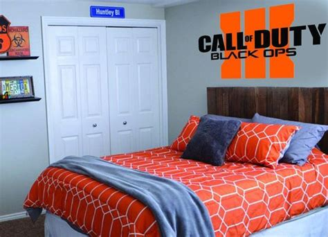 Call Of Duty Bedroom Decor Custom Wall Decals Bedroom Art And Call Of Duty Black On