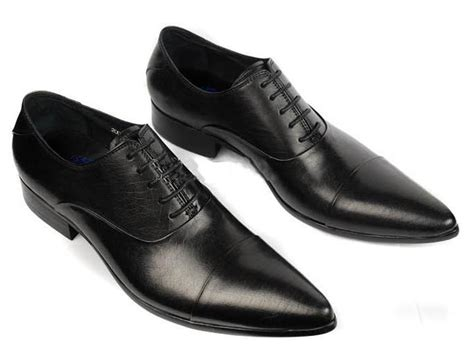 mens business boots slim dress business shoes for with laces black