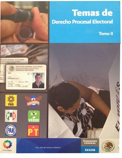 libro pri publicaci 243 n en libro quot temas de derecho procesal electoral quot pri