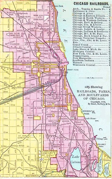 chicago railroad map chuckman s collection chicago postcards volume 04