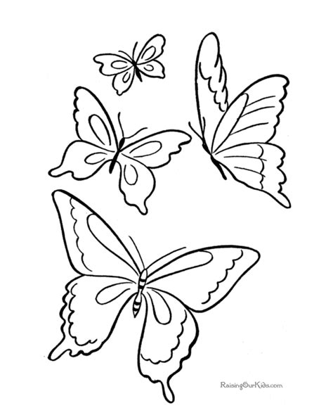 coloring pictures of small butterflies butterfly coloring pages kids az coloring pages