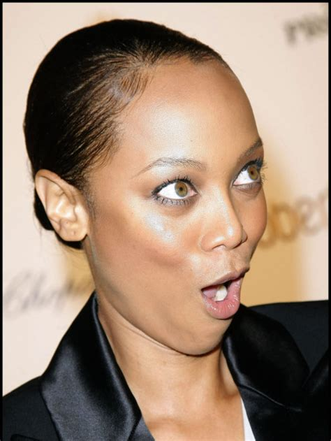 celebrity face meaning tyra banks funny face celebrity picture