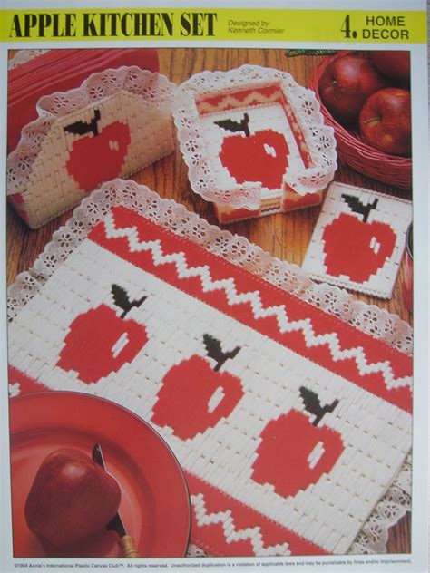 new plastic canvas free patterns apple kitchen set plastic canvas pattern for by