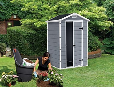 Keter Manor Resin Shed by Keter Manor Outdoor Plastic Garden Storage Shed 4 X 3